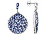 Blue Kyanite Sterling Silver Earrings 28.65ctw