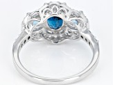 London Blue Topaz Rhodium Over Sterling Silver Ring 2.74ctw