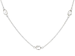White Topaz Sterling Silver Necklace 7.00ctw