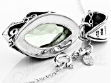 Green Prasiolite Sterling Silver Pendant With Chain 6.00ct