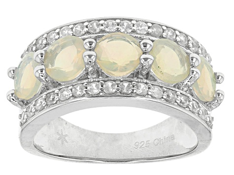 Ethiopian Opal Sterling Silver Ring 2.22ctw