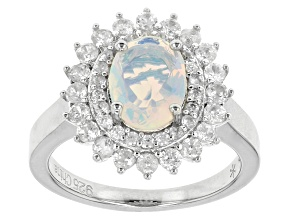 Ethiopian Opal Sterling Silver Ring 2.80ctw
