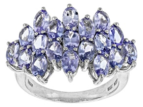 Blue Tanzanite Sterling Silver Ring 4.20ctw