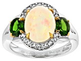 Ethiopian Opal Sterling Silver Ring 2.97ctw