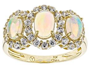 Ethiopian Opal 10k Yellow Gold Ring 2.00ctw