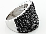 Black Spinel Sterling Silver Ring 1.90ctw