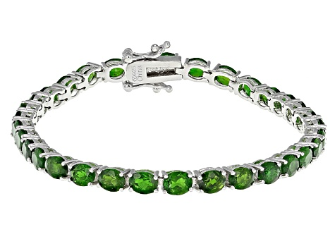Green Chrome Diopside Sterling Silver Bracelet 12 25ctw
