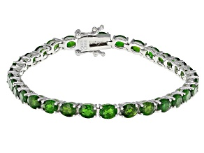 Green Chrome Diopside Sterling Silver Bracelet 12.25ctw