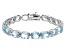 Blue Topaz 44.00ctw Sterling Silver Line Bracelet