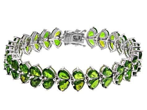 Chrome Diopside Sterling Silver Bracelet 23 80ctw