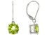 Manchurian Peridot ™ 4.50ctw Sterling Silver Solitaire Earrings