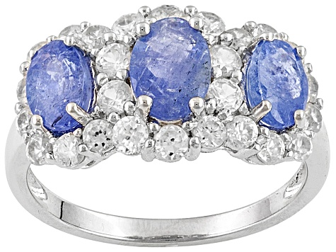 Blue Tanzanite Silver Ring 2.65ctw