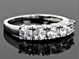 White Zircon Sterling Silver Ring 1.75ctw