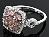 Pink Color Shift Garnet Sterling Silver Ring 2.50ctw