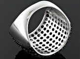 Black Spinel Sterling Silver Ring 4.02ctw