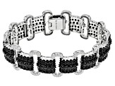 Black Spinel Rhodium Over Silver Bracelet 19.10ctw