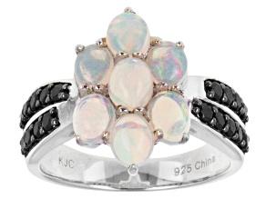 White Ethiopian Opal Silver Ring 2.02ctw