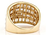 White Diamond 14K Yellow Gold Ring 1.57ctw