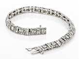 White Diamond 10K White Gold Bracelet 3.04ctw