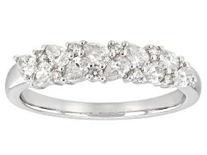 White Diamond 14K White Gold Ring 0.65ctw