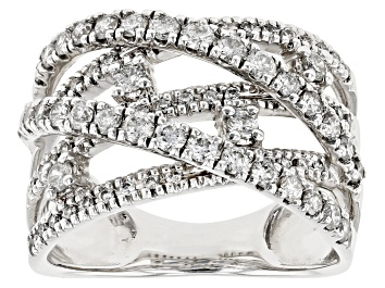 Picture of White Diamond 14K White Gold Ring 1.00ctw