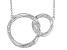 White Diamond 10K White Gold Convertible Interlocking Circle Necklace 0.17ctw