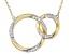 White Diamond 10K Yellow Gold Convertible Interlocking Circle Necklace 0.17ctw
