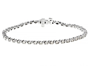 White Diamond 10K White Gold Bracelet 2.00ctw