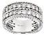 White Diamond 14K White Gold Band Ring 2.50ctw
