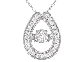 White Diamond 10K White Gold Pendant 0.20ctw