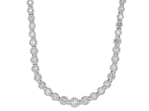 White Diamond 14K White Gold Tennis Necklace 3.00ctw