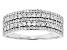 White Diamond 10k White Gold Wide Band Ring .25ctw