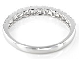 White Diamond 10K White Gold Band Ring 0.50ctw