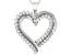 White Diamond 10K White Gold Heart Pendant 0.50ctw