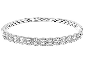 White Diamond 14K White Gold Bangle Bracelet 2.00ctw