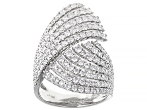 White Diamond 14K White Gold Cocktail Ring 2.20ctw