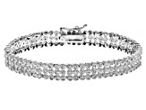 Diamond Rhodium over Brass Bracelet 2.00ctw