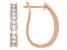 White Diamond 14K Rose Gold Hoop Earrings 1.00ctw