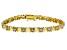 White Diamond 18K Yellow Gold Over Sterling Silver Heart Tennis Bracelet 0.25ctw
