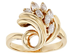 White Diamond 14K Yellow Gold Ring 0.40ctw