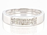White Diamond 10K White Gold Ring 0.25ctw