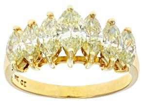 Natural Yellow Diamond 14K Yellow Gold Pyramid Ring 2.00ctw