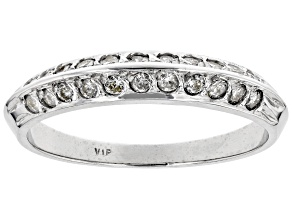 White Diamond 14K White Gold Band Ring 0.40ctw