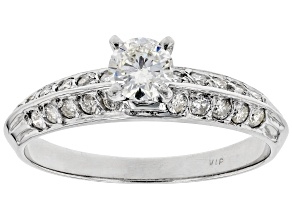 White Diamond 14k White Gold Solitaire Engagement Ring 0.70ctw
