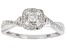 White Diamond 10k White Gold Cluster Ring 0.33ctw