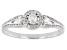 White Diamond 10k White Gold Cluster Ring 0.33ctw