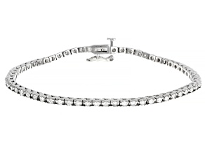 White Diamond 14K White Gold Tennis Bracelet 2.00ctw