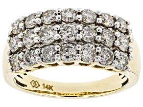Candlelight Diamonds™ 14K Yellow Gold Wide Band Ring 2.00ctw