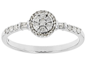 White Diamond 10K White Gold Promise Ring .25ctw