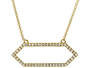 White Diamond 10K Yellow Gold Necklace 0.20ctw